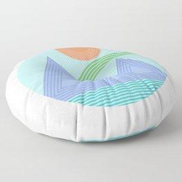 Mountain Rainbow Floor Pillow