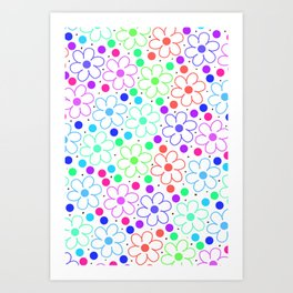 FUN FLOWERS Art Print