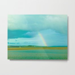 Rainbow over Paradise Island Metal Print
