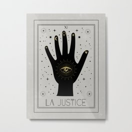 La Justice or The Justice Tarot Metal Print