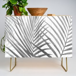 Black and White Tropical Palms Credenza