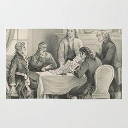 Vintage Illustration of the Declaration Committee Rug