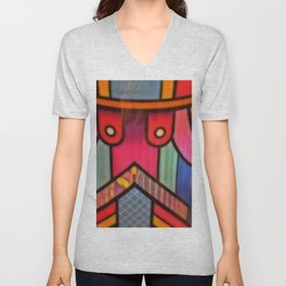 Colorful Art Deco (ish) 2 Unisex V-Neck