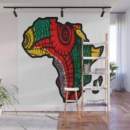 Rasta Africa Map Wall Mural