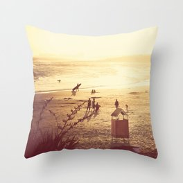 La Barra Sunset Throw Pillow