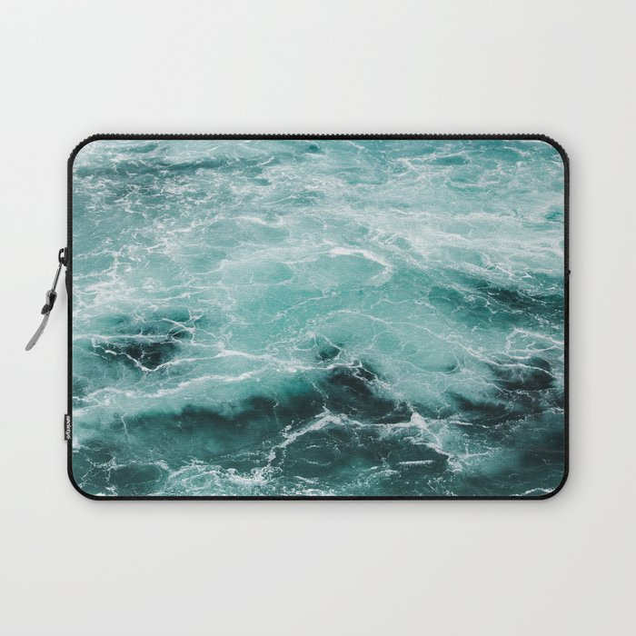 Water Photography | Sea | Ocean | Pattern | Abstract | Digital | Turquoise Laptop Sleeve