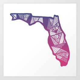Home in Florida Art Print