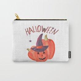 halloween pumpkin spider Carry-All Pouch