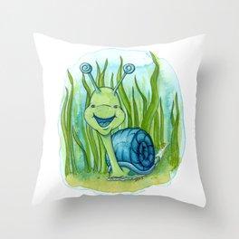 Seymour Snail Throw Pillow