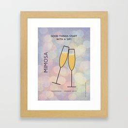 MIMOSA COCKTAIL Framed Art Print