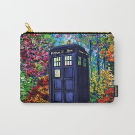 Tardis Flowers Painting Carry-All Pouch