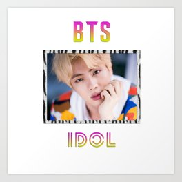 BTS Song IDOL Design - Jin Art Print