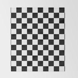 Checkered (Black & White Pattern) Throw Blanket