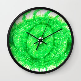 Green Eye Wall Clock