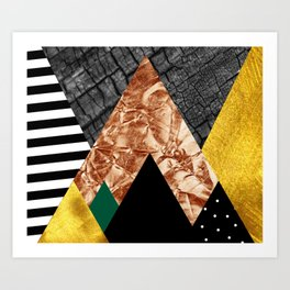 fall abstract triangle Art Print