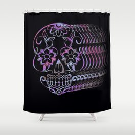 ghastly sugar skull  Shower Curtain