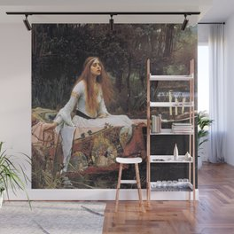 The lady of shalott painting  Wall Mural