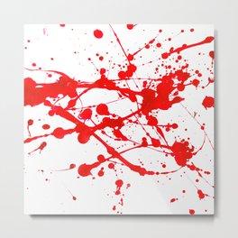 Blood Spatter Metal Print