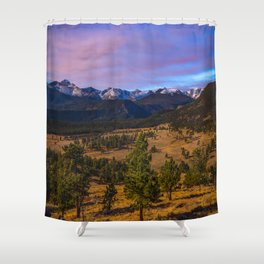 Rocky Mountain High - Moonlight Drenches Colorado Landscape Shower Curtain