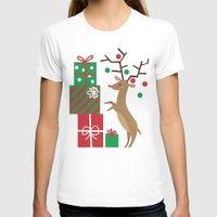 reindeer T-shirts featuring Reindeer by Reg Silva / Wedgienet.net