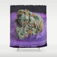 medical Shower Curtains featuring Jenny's Kush Medical Weed by BudProducts.us