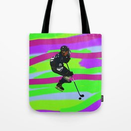 Taking Control- Ice Hockey Player & Puck Tote Bag