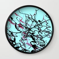 champagne Wall Clocks featuring champagne by austeja saffron