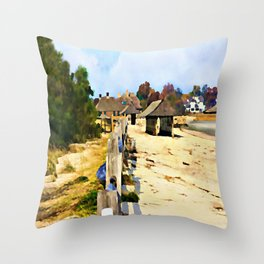 A Stroll Along The Beach Throw Pillow