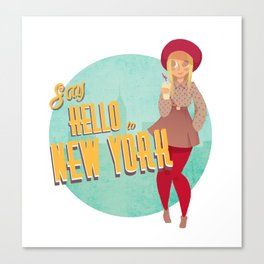 Say Hello to New York Canvas Print