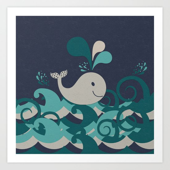 A Whale Of A Time Art Print