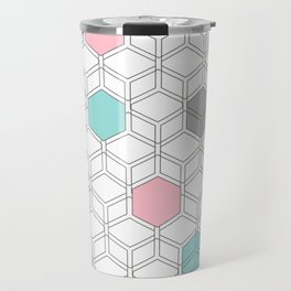Hexagon nordic pattern Travel Mug