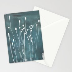 Abstract Flowers 5 Stationery Cards