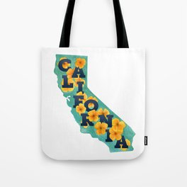 State Florals - California Floral Watercolor Tote Bag