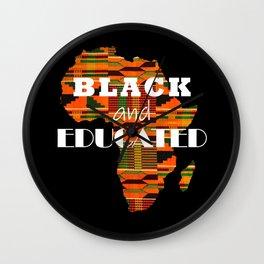 Black & Educated Wall Clock