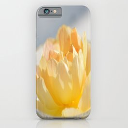 Yellow Rose in Crystal Bowl Macro Floral Photography iPhone Case