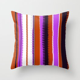 Rust and Purple Indian Blanket Design Throw Pillow