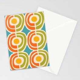 Mid Century Modern Solar Flares Pattern 2 Stationery Cards