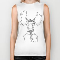 moose Biker Tanks featuring Moose by Compassion Collective