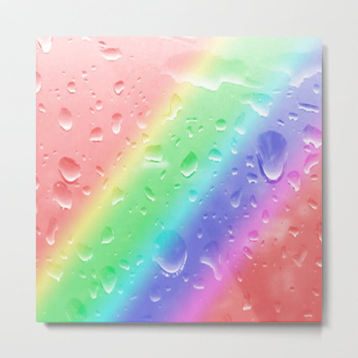 Rain on the rainbow Metal Print