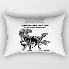 Conclusion: Dinosaurs [Black] Rectangular Pillow