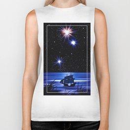 Sky, stars and the sea. Biker Tank