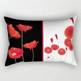 Graceful poppies Rectangular Pillow