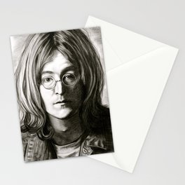 John in Black and White Stationery Cards