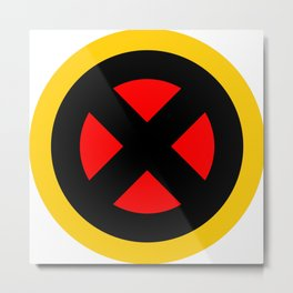 The X logo Metal Print