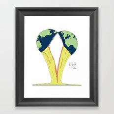 Crack the world. Framed Art Print