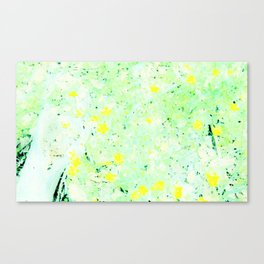 Yellow in the Meadow Canvas Print