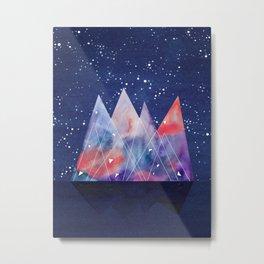 Mountains by night Metal Print
