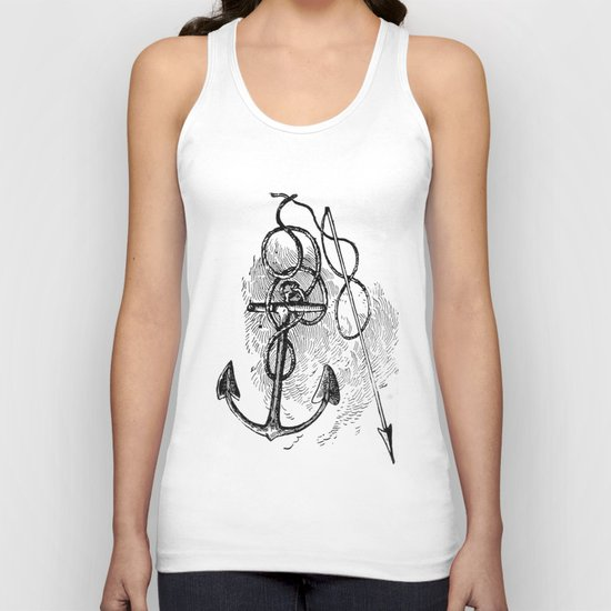 Anchor and harpoon. Unisex Tank Top