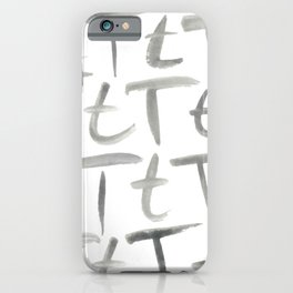 Watercolor T's - Grey Gray iPhone Case