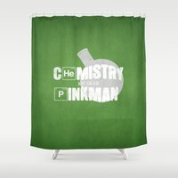 chemistry Shower Curtains featuring Chemistry by 5eth